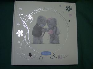me to you tatty teddy wedding guest book in cream (wedding)